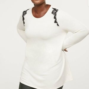 Softest Touch Lace Applique Tunic Sweater